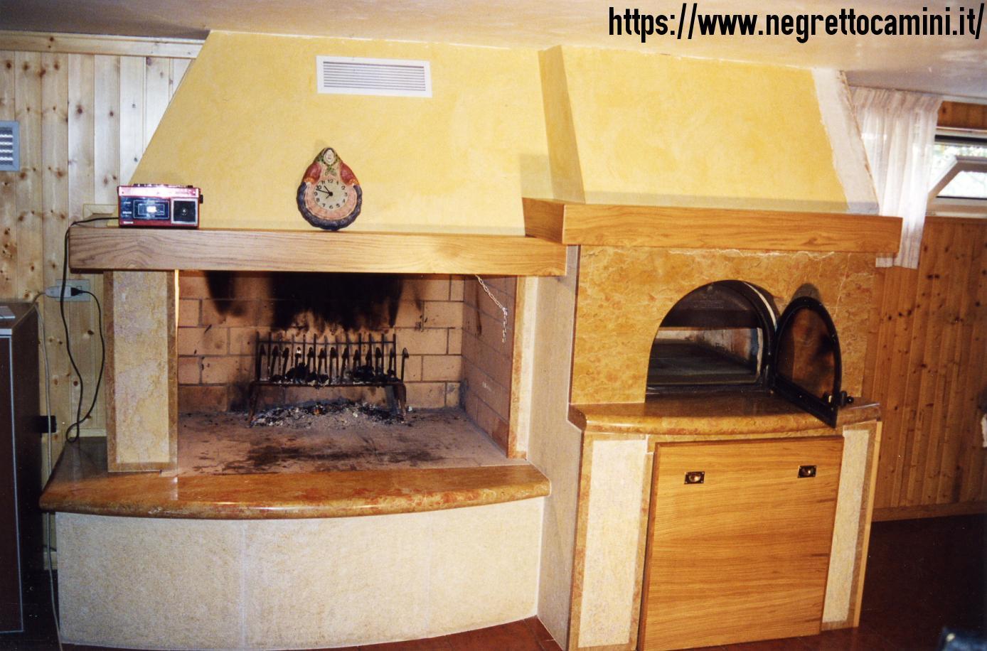 Camino in giallo reale negretto camini d 39 autore - Camino con forno ...