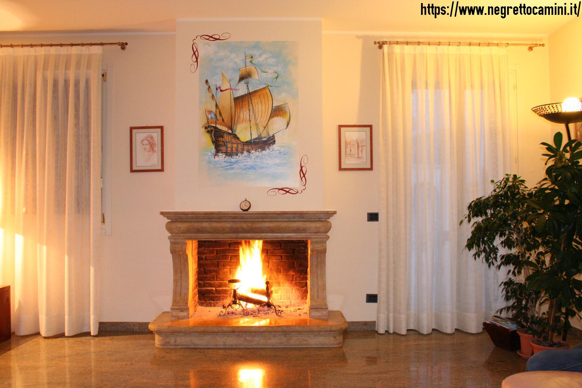 Camino Classico In Marmo camino in marmo giallo reale | negretto camini d'autore