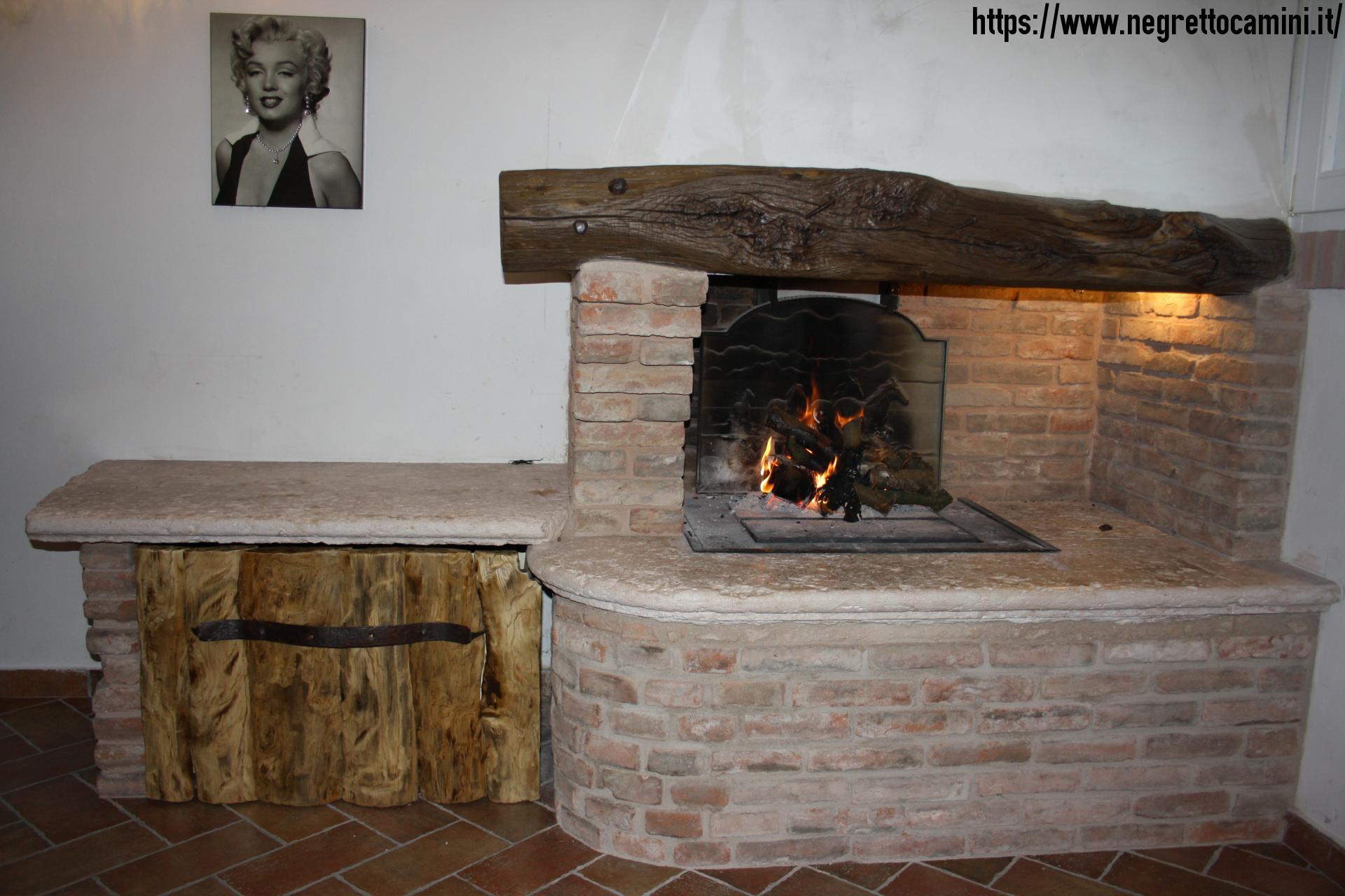 Camino rustico da taverna negretto camini d 39 autore - Camino per cucinare ...