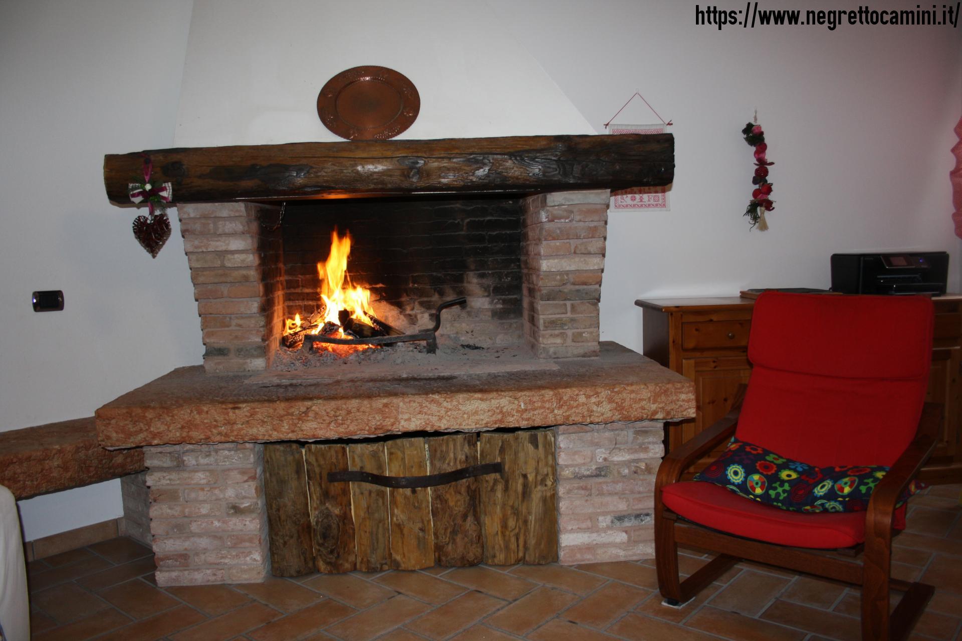 Camino da taverna negretto camini d 39 autore - Camino per cucinare ...
