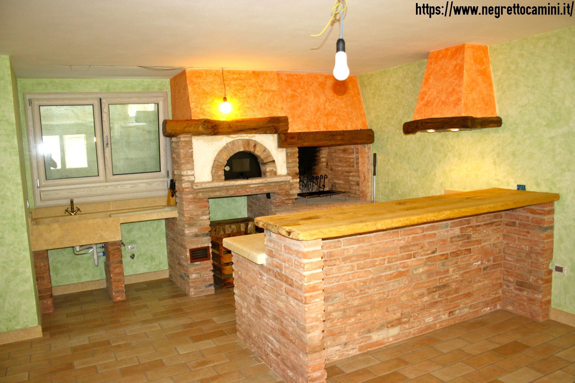 Camino rustico da taverna  Negretto Camini dAutore