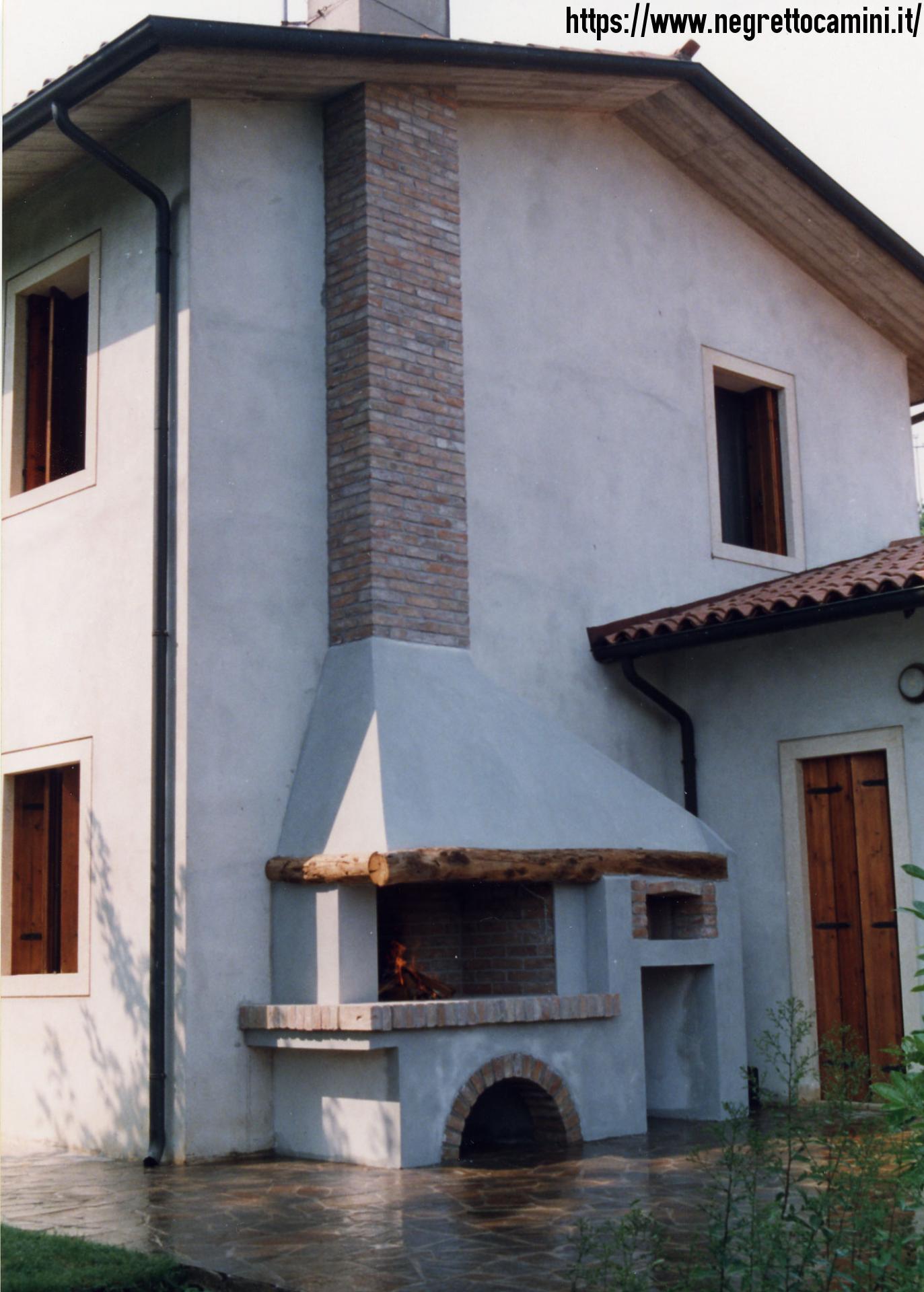 Camino con forno pizza negretto camini d 39 autore - Camini da esterno ...